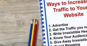 How to attract traffic to your web site. Concept Royalty Free Stock Images
