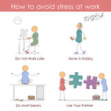 How to avoid stress at work Stock Photography