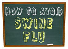 How to Avoid Swine Flu - Words on Chalkboard. The words How to Avoid Swine Flu written on a chalkboard Royalty Free Stock Images