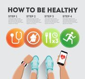 How to be healthy royalty free illustration