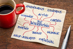 How to be interesting - positive character feature Royalty Free Stock Photo