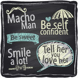 How to be a macho man chalkboard background. Stock Images