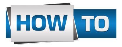 How To Blue Grey Horizontal Royalty Free Stock Image