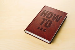 How To book. Personl guide book Royalty Free Stock Photos