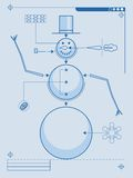 How to build a snowman Stock Images