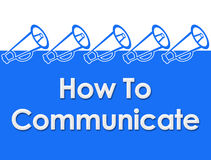 How To Communicate Loudspeaker Background Royalty Free Stock Images