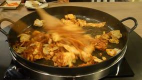 How to cook Korean Dak galbi step 3 Stock Images