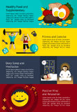 How to create a healthy life infographic banner template layout Royalty Free Stock Photography