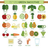 How to create your custom green smoothie Stock Photos