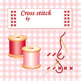 How To Cross Stitch stock illustration