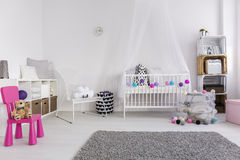 How to decorate baby girl bedroom Stock Photos