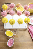 How to decorate cake pops - step by step tutorial Stock Photography