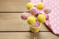 How to decorate cake pops - step by step tutorial Royalty Free Stock Image
