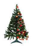How to decorate a christmas tree stock photography