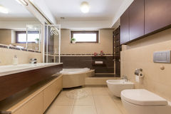 How to decorate your master bath Stock Photo
