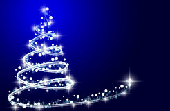 How to design a Christmas tree. Christmas tree from light  background. Greeting card or invitation. Eps 10 Stock Photo