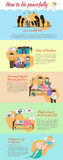 How to die peacefully cartoon infographic template layout background Stock Photos