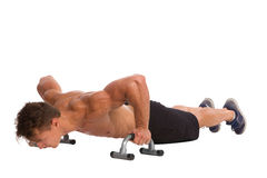 How To Do Push Ups With Handles Correctly Stock Photography