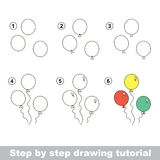 How to draw a Balloons