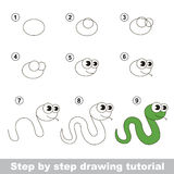 How to draw a Green Snake Royalty Free Stock Images