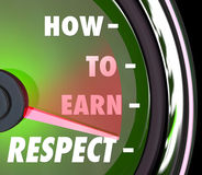 How to Earn Respect Reverence Achieve Good High Reputation Level Stock Photo