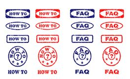 How to and FAQ rubber stamps - cdr format stock illustration