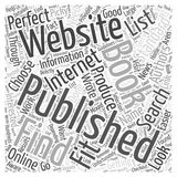 How to Find Book Publishers word cloud concept word cloud concept  background. Text Royalty Free Stock Images