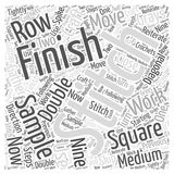 How to Finish the Sample Square in Craft word cloud concept word cloud concept vector background. Text Stock Image