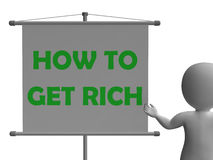 How To Get Rich Board Shows Wealth Improvement Royalty Free Stock Image