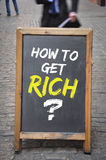 How to get rich question on blackboard display or panel Royalty Free Stock Photos