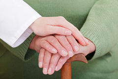 Social care. How to give the best care in elderly homes Stock Photos