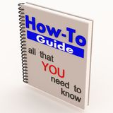 How to guide white. A white how to book or guide with instruction on do it yourself of diy self help guidance Royalty Free Stock Image