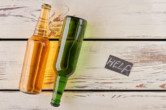 How to help alcohol dependence. Royalty Free Stock Images