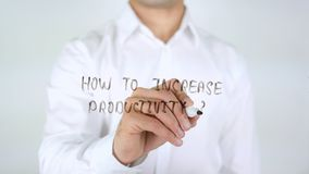 How To a Increase Productivity, Writing on Glass. High quality royalty free stock photography