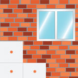 How to Insulate a Wall. Strat insulate. Royalty Free Stock Photos