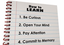 How to Learn Education List Words Royalty Free Stock Image