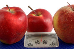 How to lose weight with the help of Apple diet Royalty Free Stock Photo