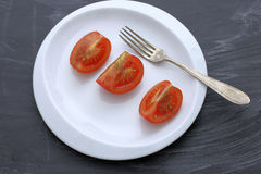 How to lose weight - tomato Royalty Free Stock Images