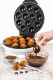 How to make cake pops - tutorial. Party dessert royalty free stock photo