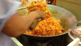 How to make candy. Thai dessert. stock video footage