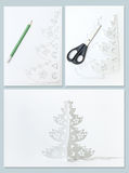 How to Make Christmas tree Stock Image