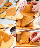 How to make a gingerbread house Stock Photos