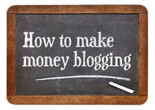 How to make money blogging royalty free stock photo
