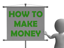How To Make Money Board Means Wealth And Stock Images