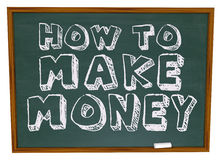 How To Make Money - Chalkboard Royalty Free Stock Image