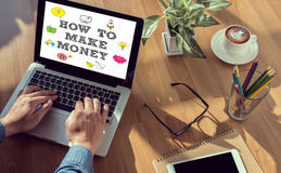 HOW TO MAKE MONEY ? Concept Royalty Free Stock Photo