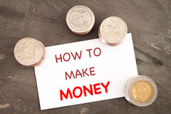 How to make money inspirational quote Stock Photo