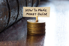 How to make money online Stock Photography