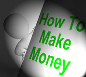 How To Make Money Sign Displays Riches And Wealth Stock Images