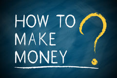 How To Make Money ?. How To Make Money text written on blackboard stock illustration